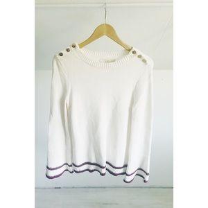 LOFT Woven Bell Sleeve Sweater